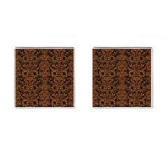 Damask2 Black Marble & Rusted Metal (r) Cufflinks (square) by trendistuff
