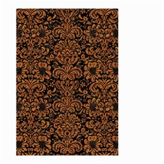Damask2 Black Marble & Rusted Metal (r) Small Garden Flag (two Sides) by trendistuff