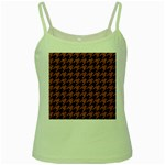 HOUNDSTOOTH1 BLACK MARBLE & RUSTED METAL Green Spaghetti Tank