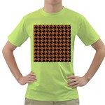 HOUNDSTOOTH1 BLACK MARBLE & RUSTED METAL Green T-Shirt