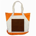 HOUNDSTOOTH1 BLACK MARBLE & RUSTED METAL Accent Tote Bag