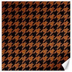 Houndstooth1 Black Marble & Rusted Metal Canvas 12  X 12   by trendistuff