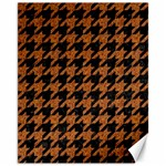 HOUNDSTOOTH1 BLACK MARBLE & RUSTED METAL Canvas 11  x 14