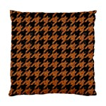 HOUNDSTOOTH1 BLACK MARBLE & RUSTED METAL Standard Cushion Case (Two Sides)