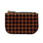 HOUNDSTOOTH1 BLACK MARBLE & RUSTED METAL Mini Coin Purses