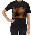 HOUNDSTOOTH1 BLACK MARBLE & RUSTED METAL Women s T-Shirt (Black)