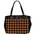 HOUNDSTOOTH1 BLACK MARBLE & RUSTED METAL Office Handbags (2 Sides)