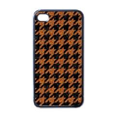 Houndstooth1 Black Marble & Rusted Metal Apple Iphone 4 Case (black) by trendistuff