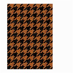 Houndstooth1 Black Marble & Rusted Metal Small Garden Flag (two Sides) by trendistuff