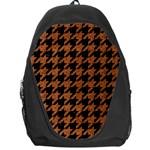 HOUNDSTOOTH1 BLACK MARBLE & RUSTED METAL Backpack Bag