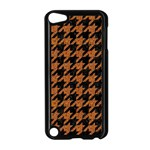 HOUNDSTOOTH1 BLACK MARBLE & RUSTED METAL Apple iPod Touch 5 Case (Black)