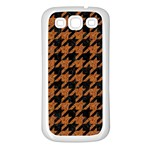 HOUNDSTOOTH1 BLACK MARBLE & RUSTED METAL Samsung Galaxy S3 Back Case (White)