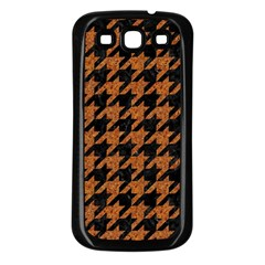 Houndstooth1 Black Marble & Rusted Metal Samsung Galaxy S3 Back Case (black) by trendistuff