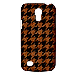 Houndstooth1 Black Marble & Rusted Metal Galaxy S4 Mini by trendistuff