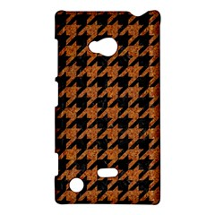 Houndstooth1 Black Marble & Rusted Metal Nokia Lumia 720 by trendistuff