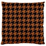HOUNDSTOOTH1 BLACK MARBLE & RUSTED METAL Large Flano Cushion Case (One Side)