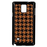 HOUNDSTOOTH1 BLACK MARBLE & RUSTED METAL Samsung Galaxy Note 4 Case (Black)