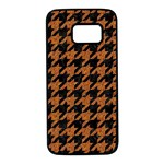 HOUNDSTOOTH1 BLACK MARBLE & RUSTED METAL Samsung Galaxy S7 Black Seamless Case