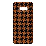 HOUNDSTOOTH1 BLACK MARBLE & RUSTED METAL Samsung Galaxy S8 Plus Hardshell Case