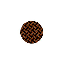 Houndstooth2 Black Marble & Rusted Metal 1  Mini Buttons by trendistuff