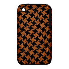 Houndstooth2 Black Marble & Rusted Metal Iphone 3s/3gs by trendistuff