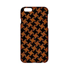 Houndstooth2 Black Marble & Rusted Metal Apple Iphone 6/6s Hardshell Case by trendistuff