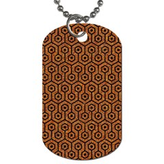 Hexagon1 Black Marble & Rusted Metal Dog Tag (one Side) by trendistuff