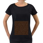 HEXAGON1 BLACK MARBLE & RUSTED METAL (R) Women s Loose-Fit T-Shirt (Black)