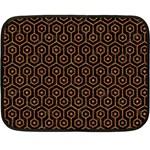 HEXAGON1 BLACK MARBLE & RUSTED METAL (R) Fleece Blanket (Mini)
