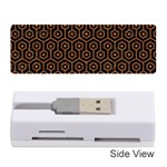 HEXAGON1 BLACK MARBLE & RUSTED METAL (R) Memory Card Reader (Stick)