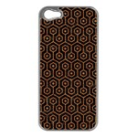 HEXAGON1 BLACK MARBLE & RUSTED METAL (R) Apple iPhone 5 Case (Silver)