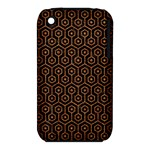 HEXAGON1 BLACK MARBLE & RUSTED METAL (R) iPhone 3S/3GS