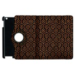 HEXAGON1 BLACK MARBLE & RUSTED METAL (R) Apple iPad 3/4 Flip 360 Case