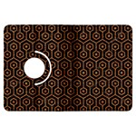 HEXAGON1 BLACK MARBLE & RUSTED METAL (R) Kindle Fire HDX Flip 360 Case