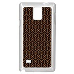 HEXAGON1 BLACK MARBLE & RUSTED METAL (R) Samsung Galaxy Note 4 Case (White)
