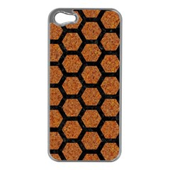 Hexagon2 Black Marble & Rusted Metal Apple Iphone 5 Case (silver) by trendistuff