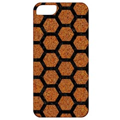 Hexagon2 Black Marble & Rusted Metal Apple Iphone 5 Classic Hardshell Case by trendistuff