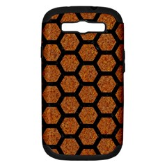 Hexagon2 Black Marble & Rusted Metal Samsung Galaxy S Iii Hardshell Case (pc+silicone) by trendistuff