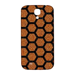 Hexagon2 Black Marble & Rusted Metal Samsung Galaxy S4 I9500/i9505  Hardshell Back Case by trendistuff