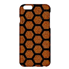Hexagon2 Black Marble & Rusted Metal Apple Iphone 6 Plus/6s Plus Hardshell Case by trendistuff