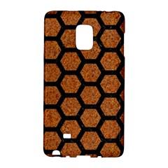 Hexagon2 Black Marble & Rusted Metal Galaxy Note Edge by trendistuff