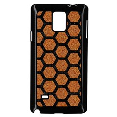 Hexagon2 Black Marble & Rusted Metal Samsung Galaxy Note 4 Case (black) by trendistuff