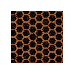 Hexagon2 Black Marble & Rusted Metal (r) Acrylic Tangram Puzzle (4  X 4 ) by trendistuff