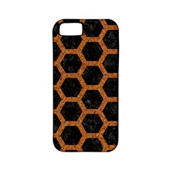 Hexagon2 Black Marble & Rusted Metal (r) Apple Iphone 5 Classic Hardshell Case (pc+silicone) by trendistuff
