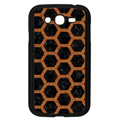 Hexagon2 Black Marble & Rusted Metal (r) Samsung Galaxy Grand Duos I9082 Case (black) by trendistuff