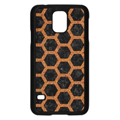 Hexagon2 Black Marble & Rusted Metal (r) Samsung Galaxy S5 Case (black) by trendistuff