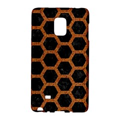 Hexagon2 Black Marble & Rusted Metal (r) Galaxy Note Edge by trendistuff