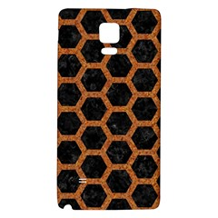 Hexagon2 Black Marble & Rusted Metal (r) Galaxy Note 4 Back Case by trendistuff