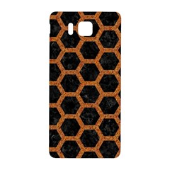 Hexagon2 Black Marble & Rusted Metal (r) Samsung Galaxy Alpha Hardshell Back Case by trendistuff