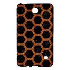 Hexagon2 Black Marble & Rusted Metal (r) Samsung Galaxy Tab 4 (7 ) Hardshell Case  by trendistuff